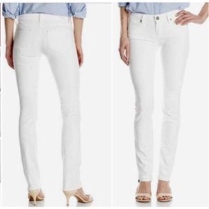 Paige Jeans Skyline Straight White Denim 26